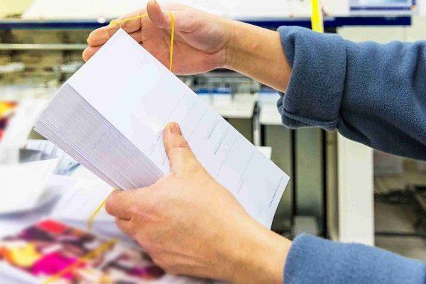 печать бланков в большом тираже